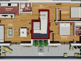 Apartament de închiriat 3 camere, în Bucuresti, zona Bucurestii Noi
