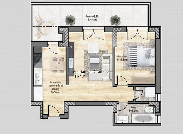 Apartamente noi cu 2 si 3 camere - imaginea 1