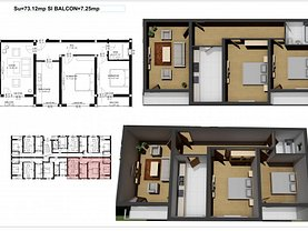 Apartament de vânzare 3 camere în Ipotesti